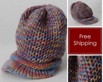 1f8676096a2 Vintage Beanie Hat Knit Color Snowboard Rasta Took Brim