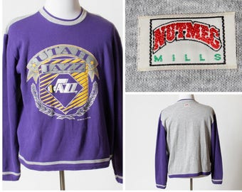 646f7b57e38 Vintage Nutmeg Utah Jazz Sweatshirt Basketball NBA - 80s Retro 2 Extra  Large XXL