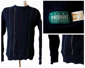 c37be254bd Vintage Men s Sweater - Great Northwest 90s Retro Medium Made in the USA