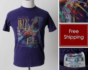 Size XXL Vintage 90s Florida Lobster Rainbow Graphic Tee