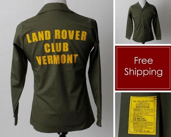 Vintage 80s Military Shirt Men's Land Rover Vermon