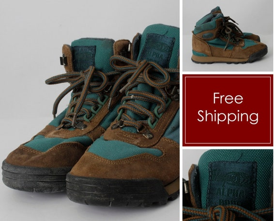 Vintage Women\'s Hiking Boots Vasque - 90s Retro US Size 7 EU 37 - 38 uk 5 /  23.5 cm