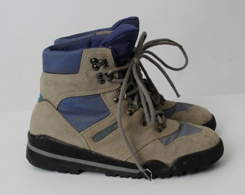 Vintage Women/'s Hiking Boots Merrell Mariah wtc Gray Blue 90s Retro US Size 8 EU 38-39 UK 6
