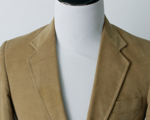 Vintage Men's Corduroy Blazer Jacket Suit Coat Sp… - image 3