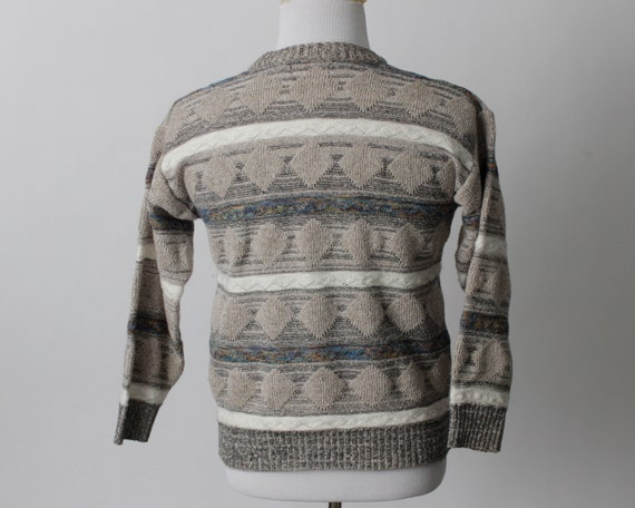 Vintage 80s Sweater Men's Women's Coogi Style Tan… - image 6
