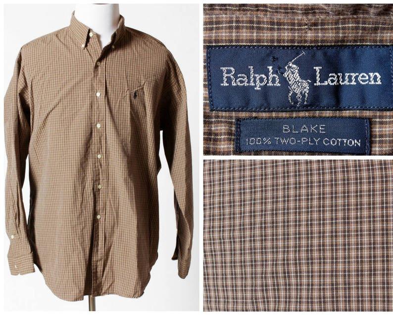 df2a31ce Vintage Men's Polo Shirt Ralph Lauren Long Sleeve Blake | Etsy