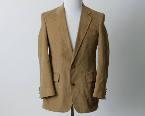 Vintage Men's Corduroy Blazer Jacket Suit Coat Sp… - image 2