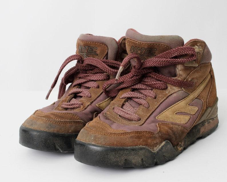 2d932fa1 Vintage Women's Hiking Boots Hi Tec Hi-Tec - 80s Retro US Size 8 EU 38-39  UK 6 / 24 cm