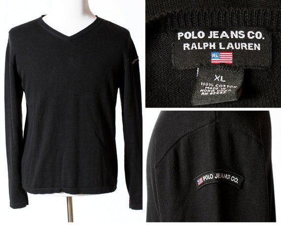 a9d8bcb09e Vintage Men's Polo Jeans Sweater Shirt 90's Retro XL | Etsy