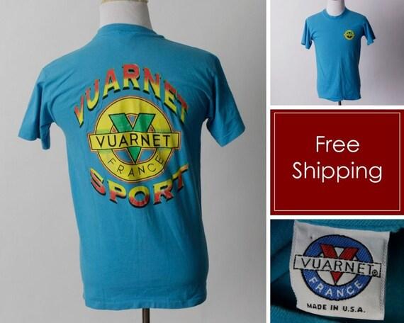 Vintage Vuarnet T Shirt TShirt T Shirt France Men'