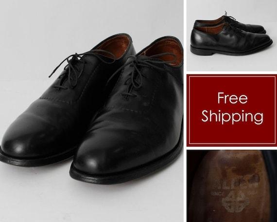 Vintage 80s Alden Shoes Men's Oxford Whole Cut Bla
