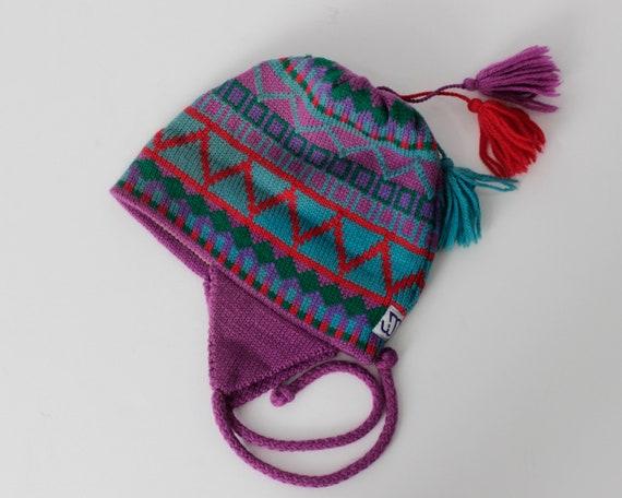 Vintage Beanie Wool Hat Knit Pom Took Handmade - 8