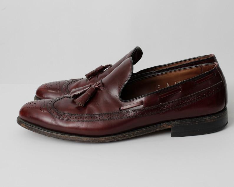 US 12 UK 11.5 EUR 45 Made in the usa Vintage Allen Edmonds Loafer Loafers Shoes Tassle Size 12