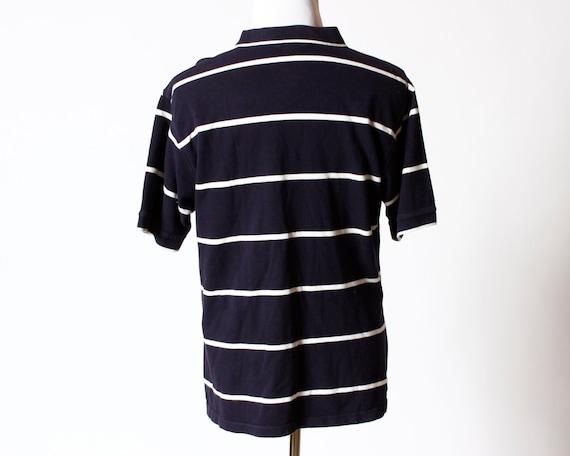 Vintage Men's Izod Logo Racquet Polo Shirt Retro 90s Large L Short Sleeve