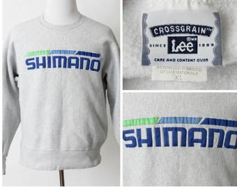 Vintage Men's Sweatshirt Shimano Cycling - 90s Retro Tour de France Extra Large XL