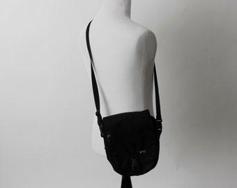 Vintage 90s Bag Messenger Shoulder Black Crossbody - 90's Tote Western Pack