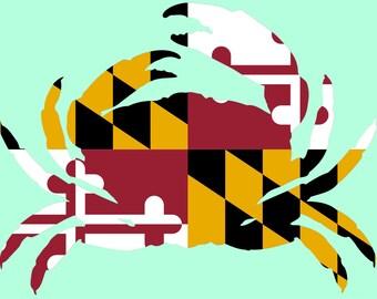 Maryland Crab Decal Sticker *Waterproof*