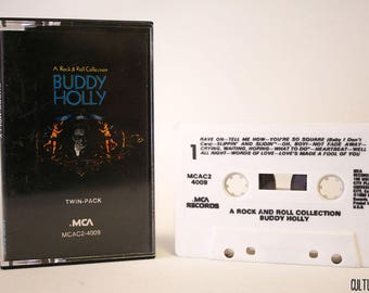Buddy Holly A Rock & Roll Collection Cassette MCAC2 4009  (1980, US, MCA)