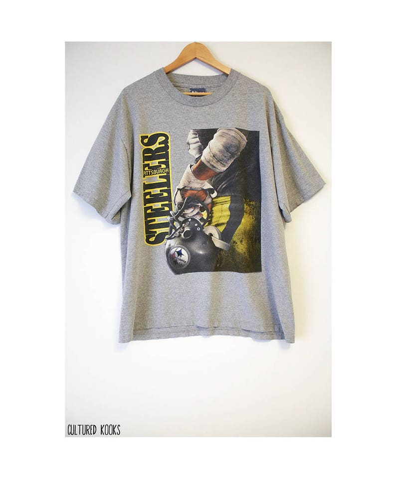 the latest 8651f 7ec88 Vintage 1996 Pittsburgh Steelers Soft Gray T-shirt- Size Men's 3XL  (Cotton/Polyester)