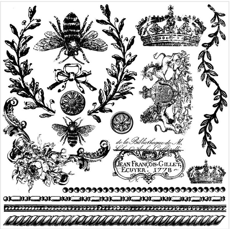 Iron Orchid Designs Queen Bee IOD Decor Stamp