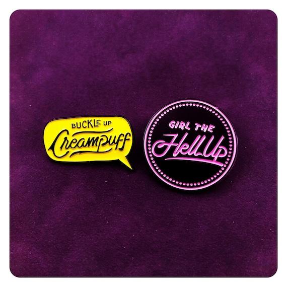 Girl the Hell Up Buckle Up Creampuff 2 pack Hollstein Ship Carmilla stickers Web Series Vampire Clexacon LGBTQ Queer Natasha Negovanlis