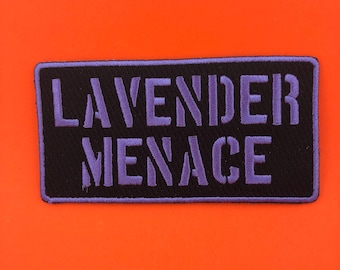 Lavender Menace Patch LGBT feminist patch feminism patch resist patch Lesbian patch Gay Girls Pride Patch gay patch Lesbian Girlfriend LGBT