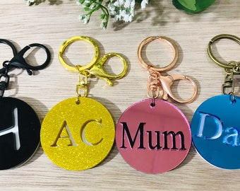 Personalised Key Ring personalized key ring personalised acrylic key ring custom  key ring key ring stocking filler Christmas present keyring e1c5fd71b0
