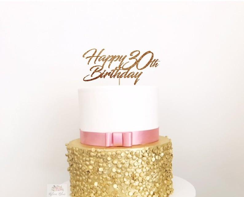 Awe Inspiring Thirty Acrylic Cake Topper 30Th Birthday Dirty Thirty 30Th Etsy Personalised Birthday Cards Cominlily Jamesorg