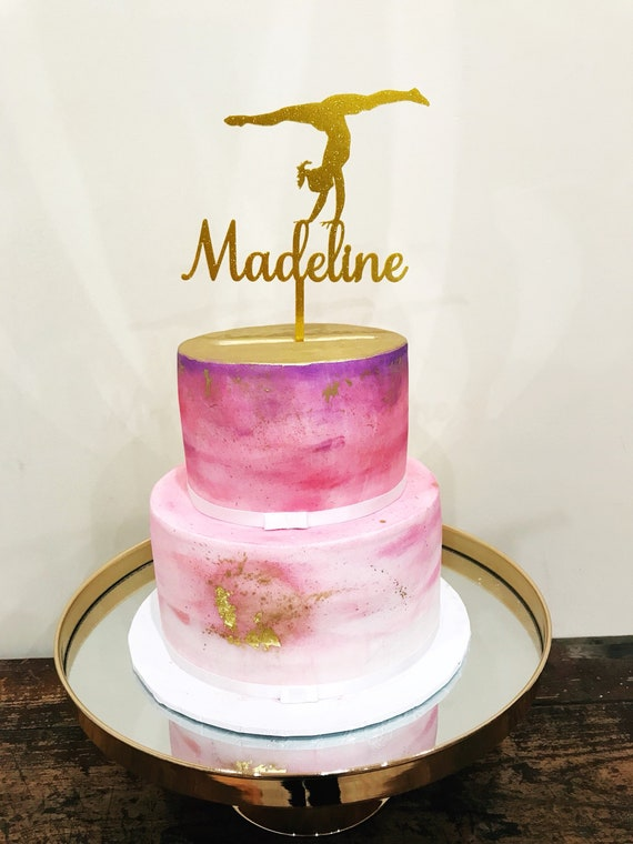 Fabulous Personalised Gymnastics Acrylic Cake Topper Gymnast Cake Etsy Personalised Birthday Cards Bromeletsinfo