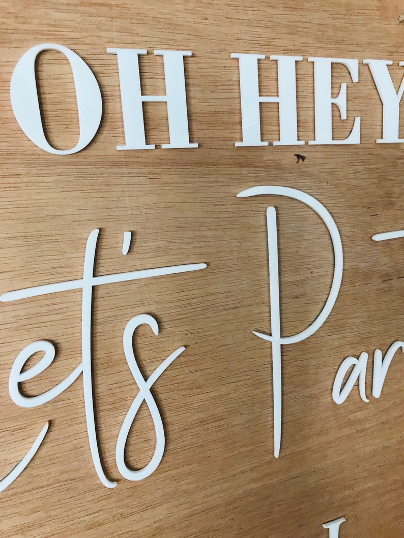 40 cm Lets Party signWelcome SignWedding signWelcome Wedding SignAcrylic SignReception Signwelcome Signageengagement party signParty