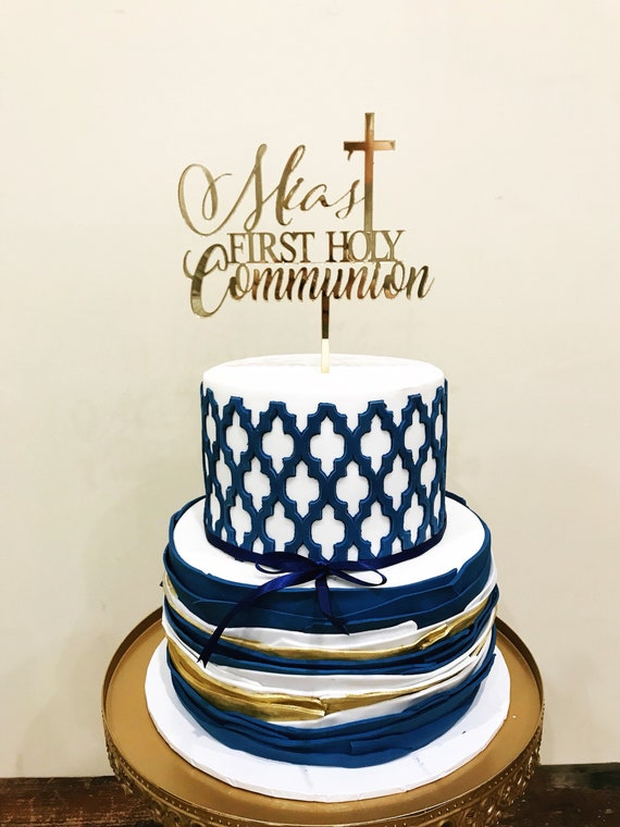 Personalised First Holy Communion Cake Topper Different Sizes