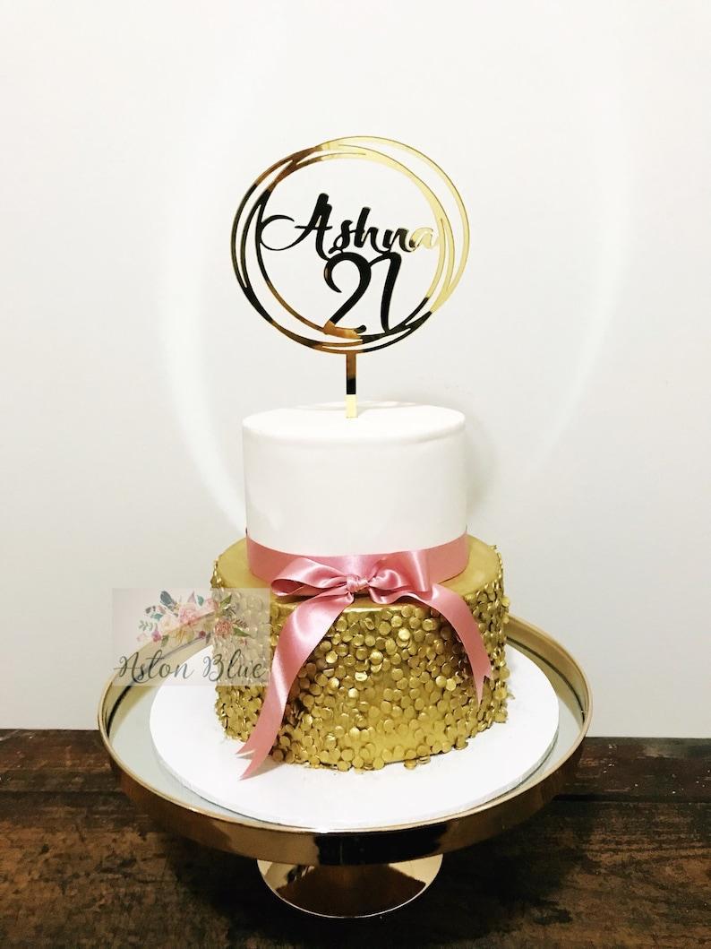 Zwanzig Ersten Acryl Cake Topper Personalisierte 21