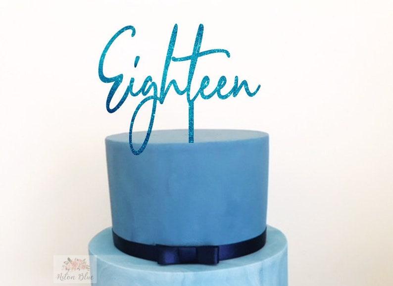 Eighteen Cake Topper Birthday 18 Happy