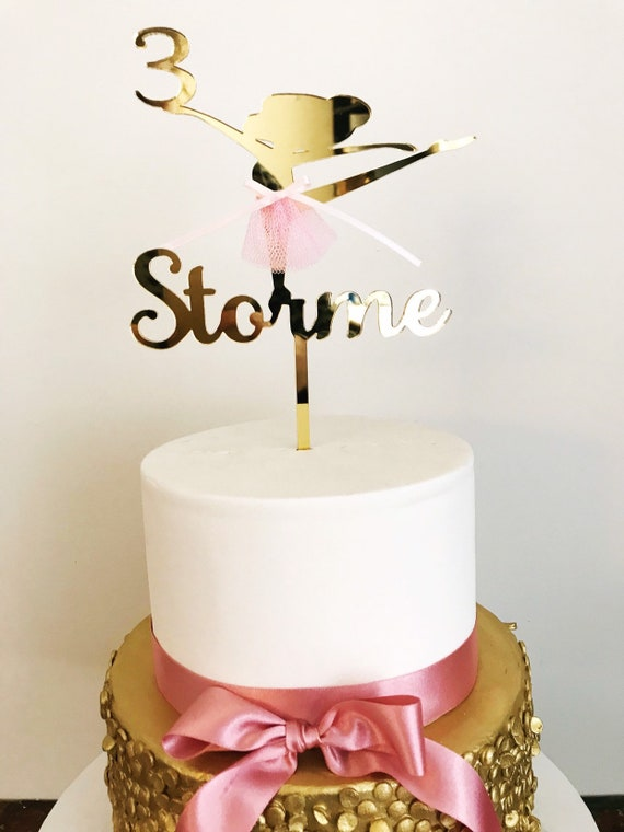 Ballerina Cake Tutu Topper-Ballerina Gold Silver cake topper-Ballerina Tutu theme cake topper-Ballerina Cake Topper-Tutu Cake topper-Tutu