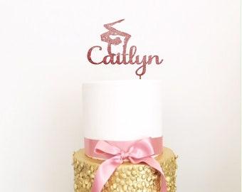 Personalised Gymnastics Acrylic Cake Topper - Gymnast Cake Topper/Gymnastics Topper/Gymnastics Party/Gymnastics Birthday/Acrobat/Gymnast