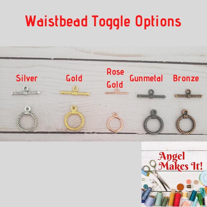 Custom Single Strand Waistbead and AnkletBracelet Set