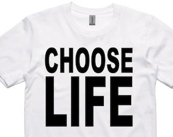 Choose Life T-Shirt wham 80's george michael retro
