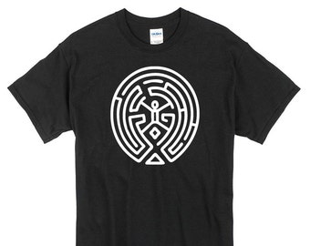 Westworld Maze T-Shirt black white 100% cotton new geek sci-fi western