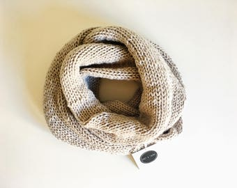 Knitted Infinity Scarf, Handmade Knitted Infinity Scarf, Infinity Scarf, Handmade Scarf