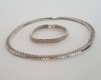 Sterling Silver Woven Set