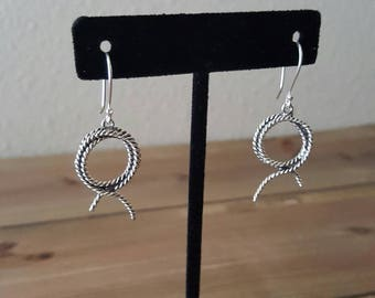 Sterling Silver Rope Earrings | Cowgirl Rope Earrings | Lasso Earrings  |Gift for Her | Western Cowgirl gift | Horse Lovers