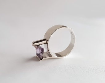 Amethyst Contempo Ring * Anniversary * Gift * Gift for Her