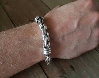 Sterling Silver Link Bracelet for Men