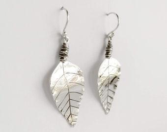 Sterling Silver Signature Leaf Earrings