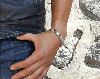 Sterling Silver Woven Men's Bracelet