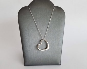 Bliss Heart Necklace in Sterling Silver