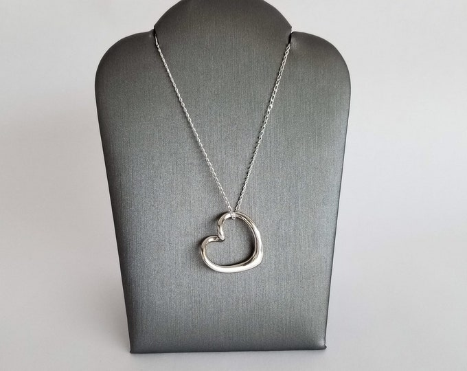 Featured listing image: Bliss Heart Necklace in Sterling Silver