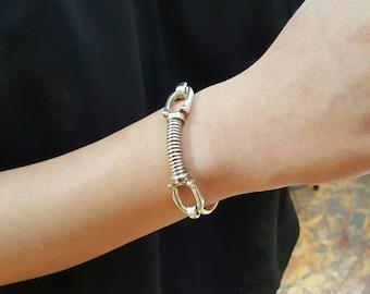 Sterling Silver Horseshoe Hook Bracelet