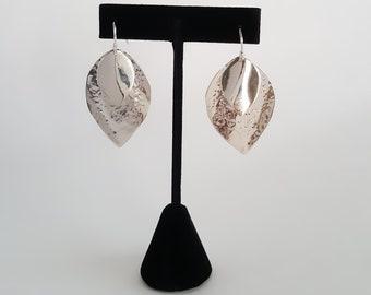 Sterling Silver Double Leaf Earring Hooks