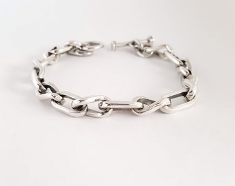 Sterling Silver Links Mens Bracelet